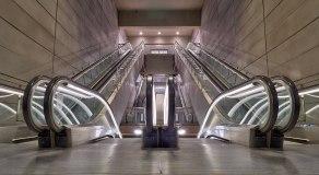U-Bahn Treppe in Kopenhagen