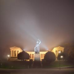 Bavaria im Nebel