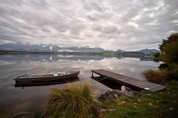 Hopfensee Boot und Bootssteg