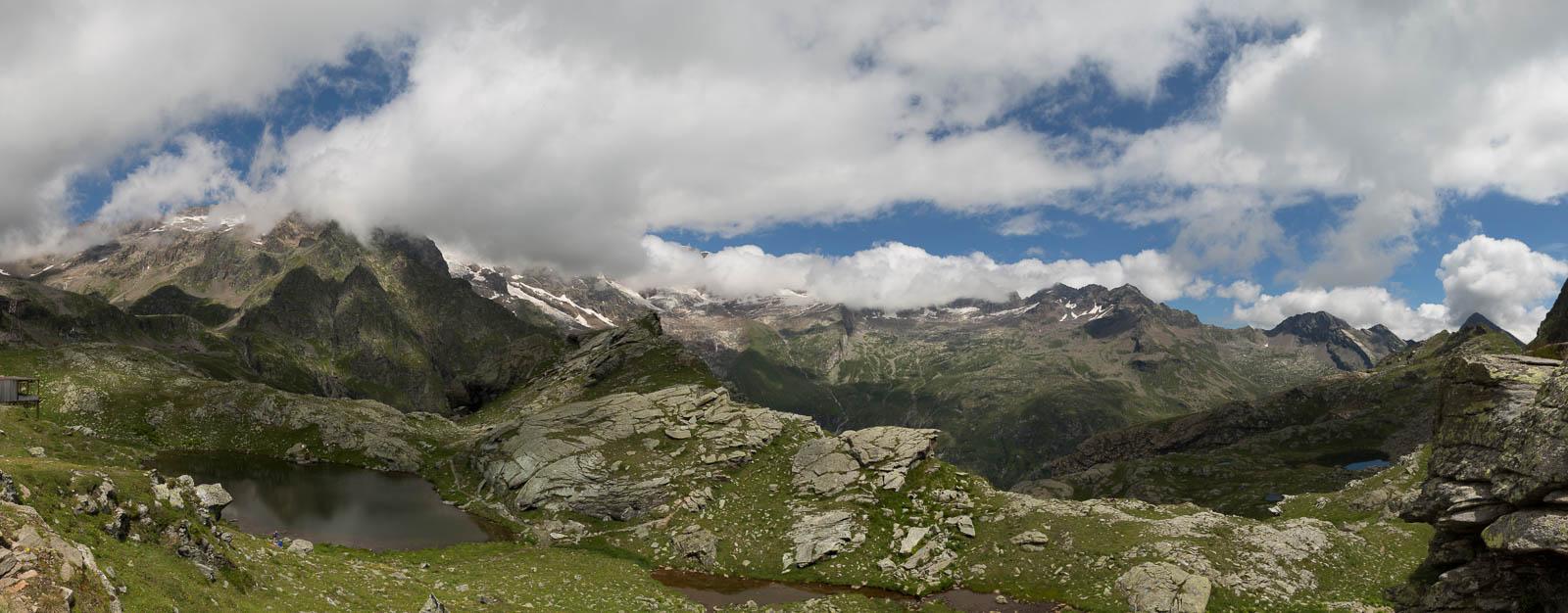 Sicht auf das Monte Rosa Massiv
