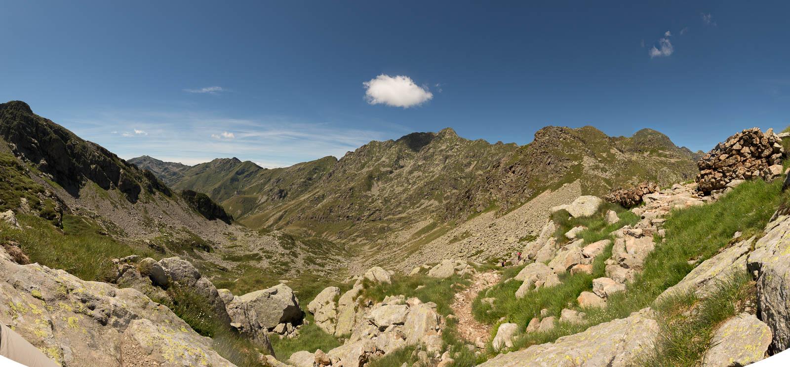 GTA Tourenabschnitt von Oropa zum Refugio Coda vom Monte Mucrone aus gesehen