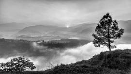 Tagesanbruch im Himalaya Vorland