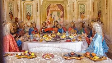 Das Abendmahl am Vorabend von Christi Passion