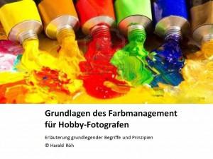 Powerpoint Präsentation zum Thema Farbmanagement