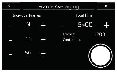 Phase One XT: Frame Averaging Panel